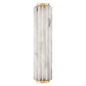 Hillside Aged Brass 25-Inch One-Light Wall Sconce