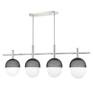 Nyack Polished Nickel Black Four-Light Pendant