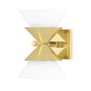 Stillwell Aged Brass Two-Light Wall Sconce