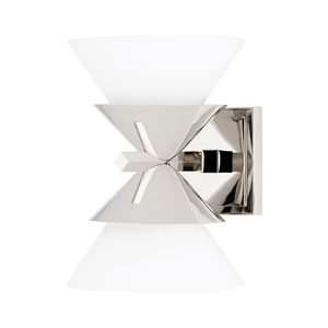 Stillwell Polished Nickel Two-Light Wall Sconce