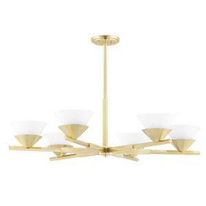 Stillwell Aged Brass Six-Light Chandelier