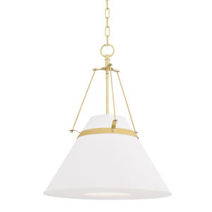 Clemens Aged Brass One-Light Pendant