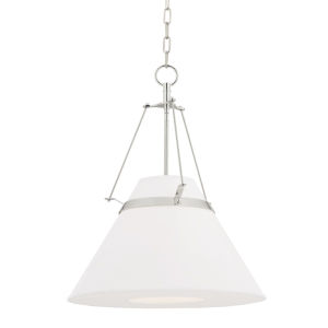 Clemens Polished Nickel One-Light Pendant