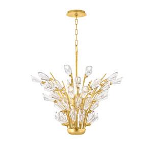 Tulip Gold Five-Light Chandelier