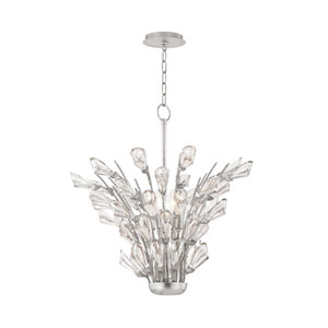 Tulip Silver Five-Light Chandelier