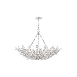 Tulip Silver 28-Inch Nine-Light Chandelier