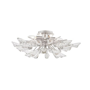 Tulip Silver 40-Inch Nine-Light Chandelier