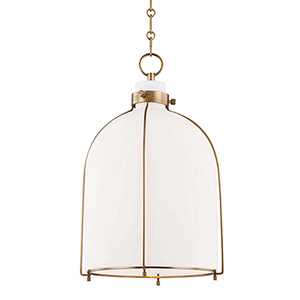 Eldridge Aged Brass 14-Inch One-Light Pendant
