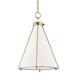 Eldridge Aged Brass One-Light Pendant