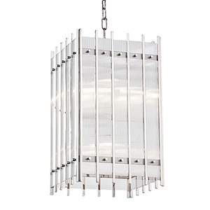 Wooster Polished Nickel Eight-Light Pendant