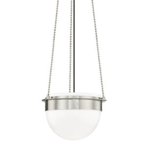 Silo Polished Nickel 15-Inch One-Light Pendant