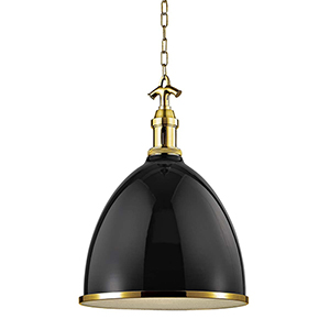 Viceroy Black and Aged Brass One-Light Pendant