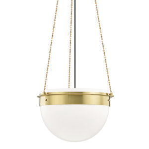 Silo Aged Brass 19-Inch One-Light Pendant
