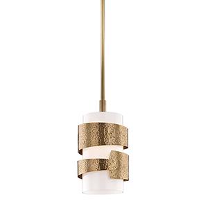 Lanford Aged Brass 8-Inch One-Light Pendant