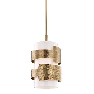 Lanford Aged Brass One-Light Pendant