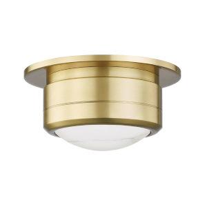 Greenport Aged Brass Seven-Inch LED Flush Mount