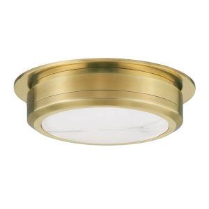 Greenport Aged Brass 14-Inch LED Flush Mount