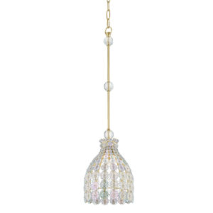 Floral Park Aged Brass One-Light Pendant