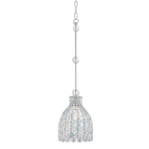 Floral Park Polished Nickel One-Light Pendant