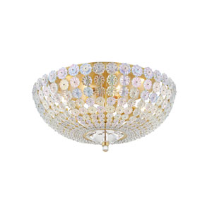 Floral Park Brass Polished One-Light Flush Mount