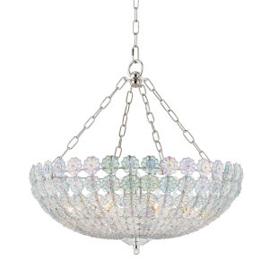 Floral Park Polished Nickel Eight-Light Pendant