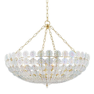 Floral Park Aged Brass 12-Light Pendant