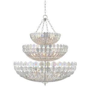 Floral Park Polished Nickel 24-Light Pendant