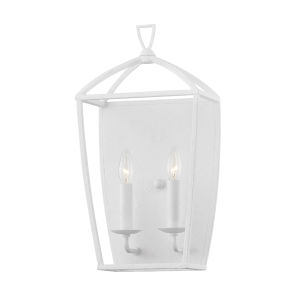 Bryant White Two-Light Wall Sconce