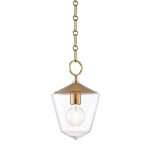 Greene Aged Brass One-Light Pendant