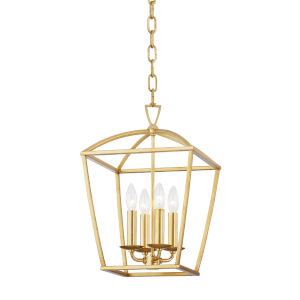 Bryant Gold Four-Light Small Pendant