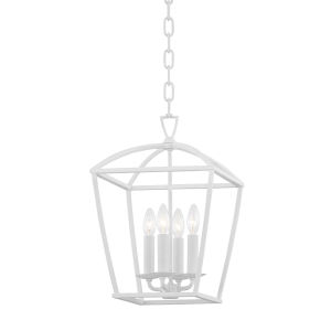 Bryant White Four-Light Small Pendant