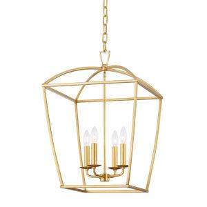 Bryant Gold Four-Light Pendant