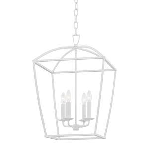 Bryant White Four-Light Pendant