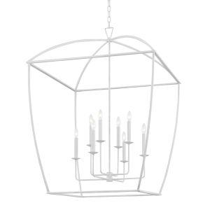 Bryant White Eight-Light Extra Pendant