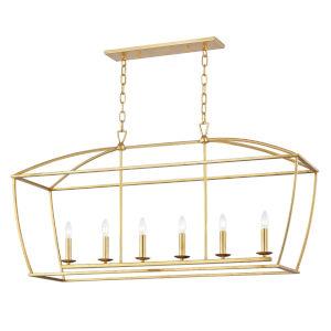 Bryant Gold Six-Light Pendant
