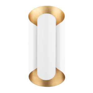 Banks Gold and White Two-Light Wall Sconce