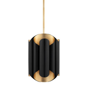 Banks Gold and Black Six-Light Pendant
