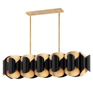 Banks Gold and Black 12-Light Pendant