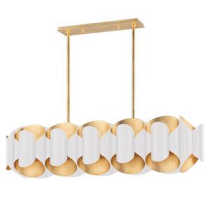 Banks Gold and White 12-Light Pendant