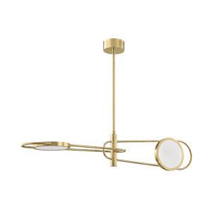 Valeri Aged Brass Two-Light LED Pendant