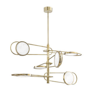 Valeri Aged Brass Six-Light LED Pendant