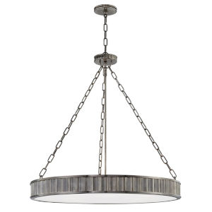 Middlebury Historic Nickel Eight-Light Chandelier with Opal Glass