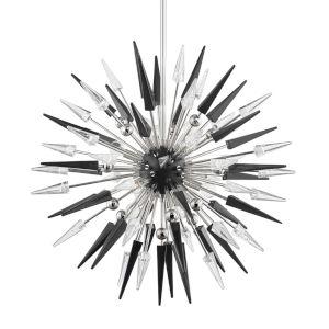 Sparta Polished Nickel 12-Light Pendant