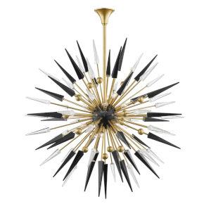 Sparta Aged Brass 18-Light Pendant