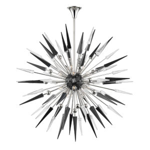 Sparta Polished Nickel 18-Light Pendant