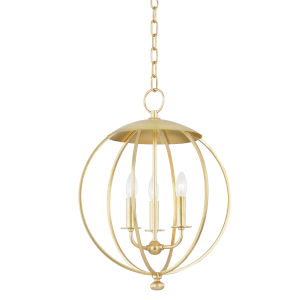 Wesley Gold Leaf Three-Light Pendant