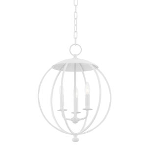 Wesley White Plaster Three-Light Pendant