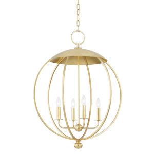 Wesley Gold Leaf Four-Light Pendant