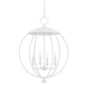 Wesley White Plaster Four-Light Pendant