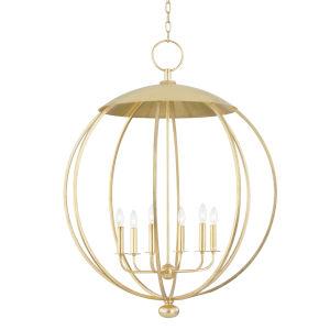 Wesley Gold Leaf Six-Light Pendant